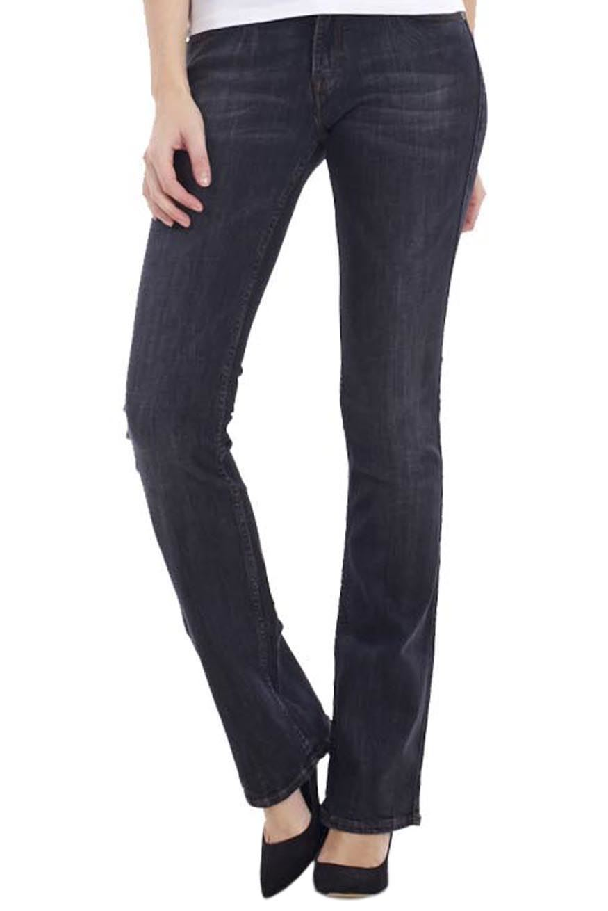 Sentinel Ladies Bootcut Jeans Womens Blue Cotton Indigo Slimboot Denim  Bootleg Pants