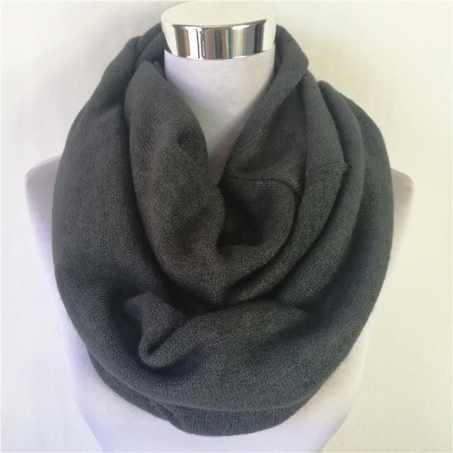 New Fashion Unisex Womens Winter Circle scarves Cashmere Ladies Infinity  Scarf Snood Scarves Wraps Loop women