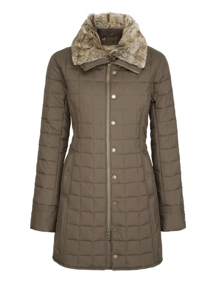 Long Winter Quilted Coat for women