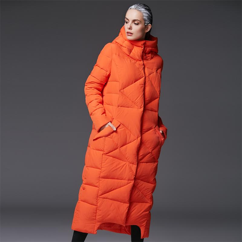 2019 Women'S Extra Long Parkas For Women Winter Coat Warm Quilted Down  Jackets Luxury Brands Design Thickened Orange Hooded Black From Caesarl, ...