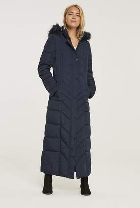 at Long Tall Sally · Long Tall Sally Chevron Quilted Maxi Puffer Coat
