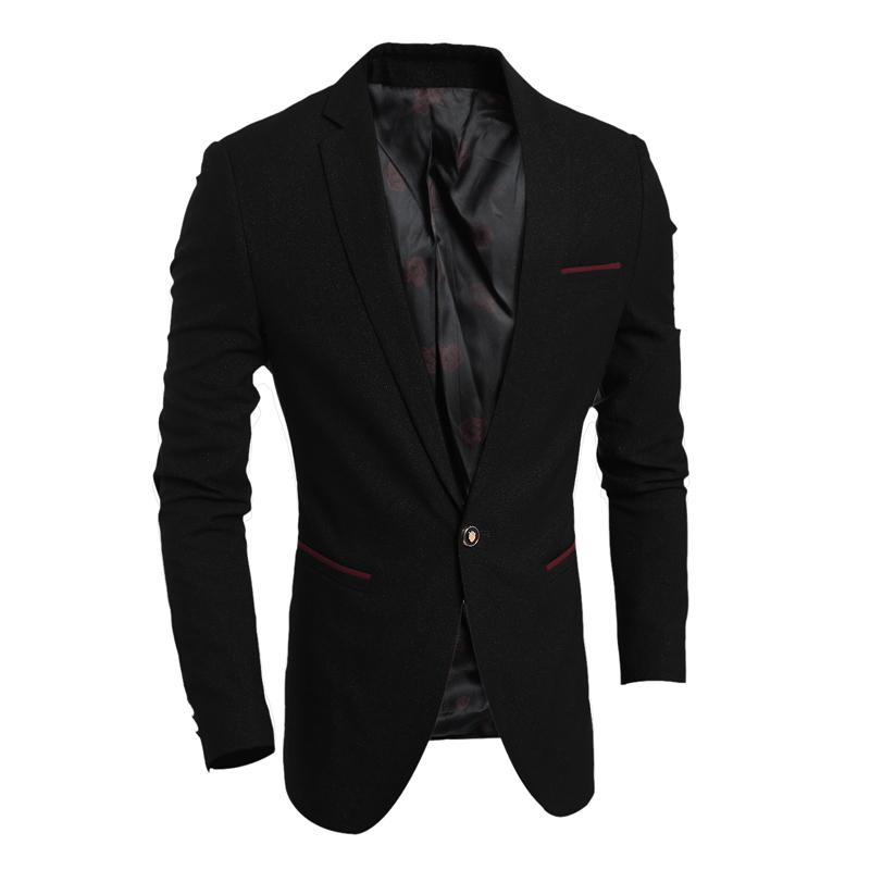 New Men Dress Blazer Jacket Brand Slim Fit Casual Business Blazer Suit Male  Wedding Suit Blazer Coat Outwear Tops Jackets US Size XS S M L Men Blazer  Mens ...