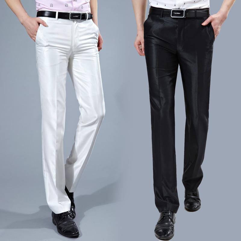 2019 Wholesale Men Suit Pants 2017 Slim Fit Mens Dress Pants Korean Fashion  Wrinkle Free Suit Pant Black White Formal Trousers For Men P62 From Simmer,  ...