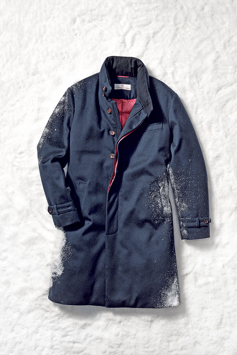 Norwegian Wool down-lined cashmere coat, $1,995 at Saks Fifth  AvenueMarshall Troy