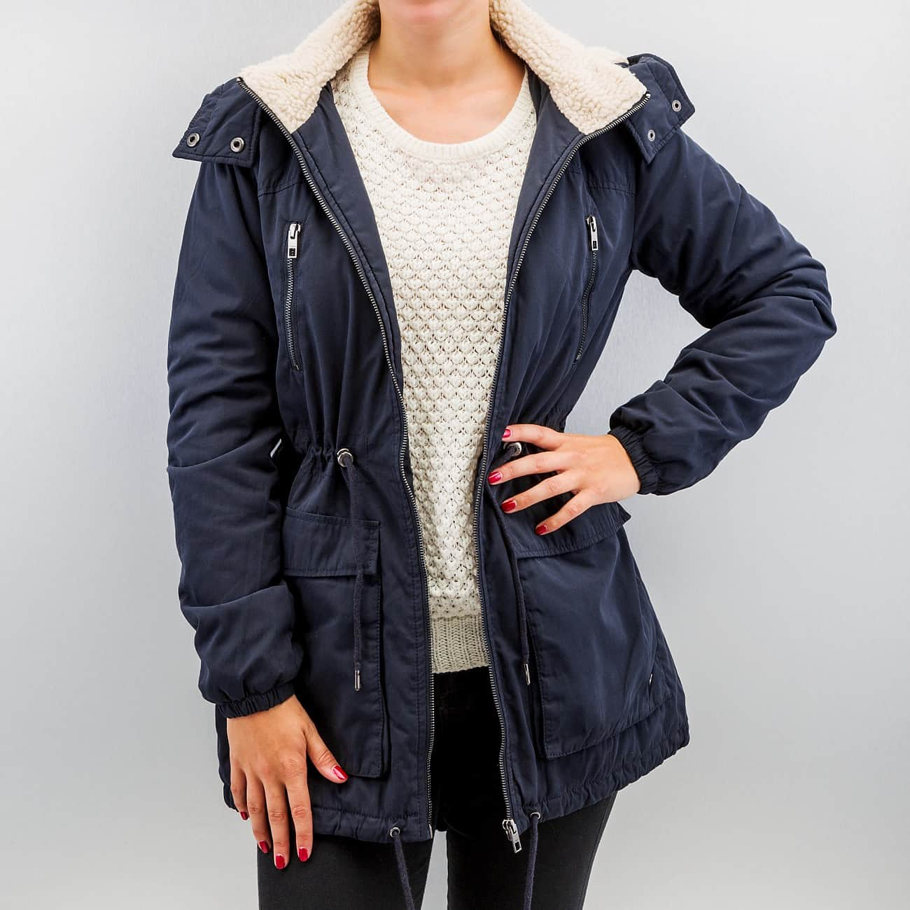 Only Jacket / Winter Onlanna In Blue Women,only play downloaded music on  iphone,