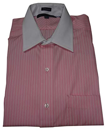Tommy Hilfiger Men's Regular Fit Shirt, Size 15 1/2 32/33, Pink