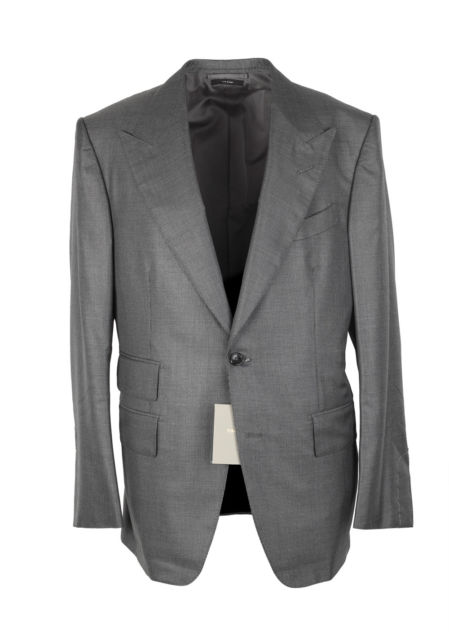 New TOM FORD Windsor Gray Suit Size 50 / 40R U.S. Silk Wool Fit A