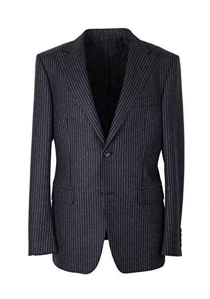 CL - Gucci Navy Flannel Striped Suit Size 50 / 40R U.S. In Wool