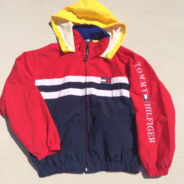 jacket yellow top blue jacket tommy hilfiger tommy hilfiger jacket tommy  hilfiger colorful colorblock windbreaker tommy
