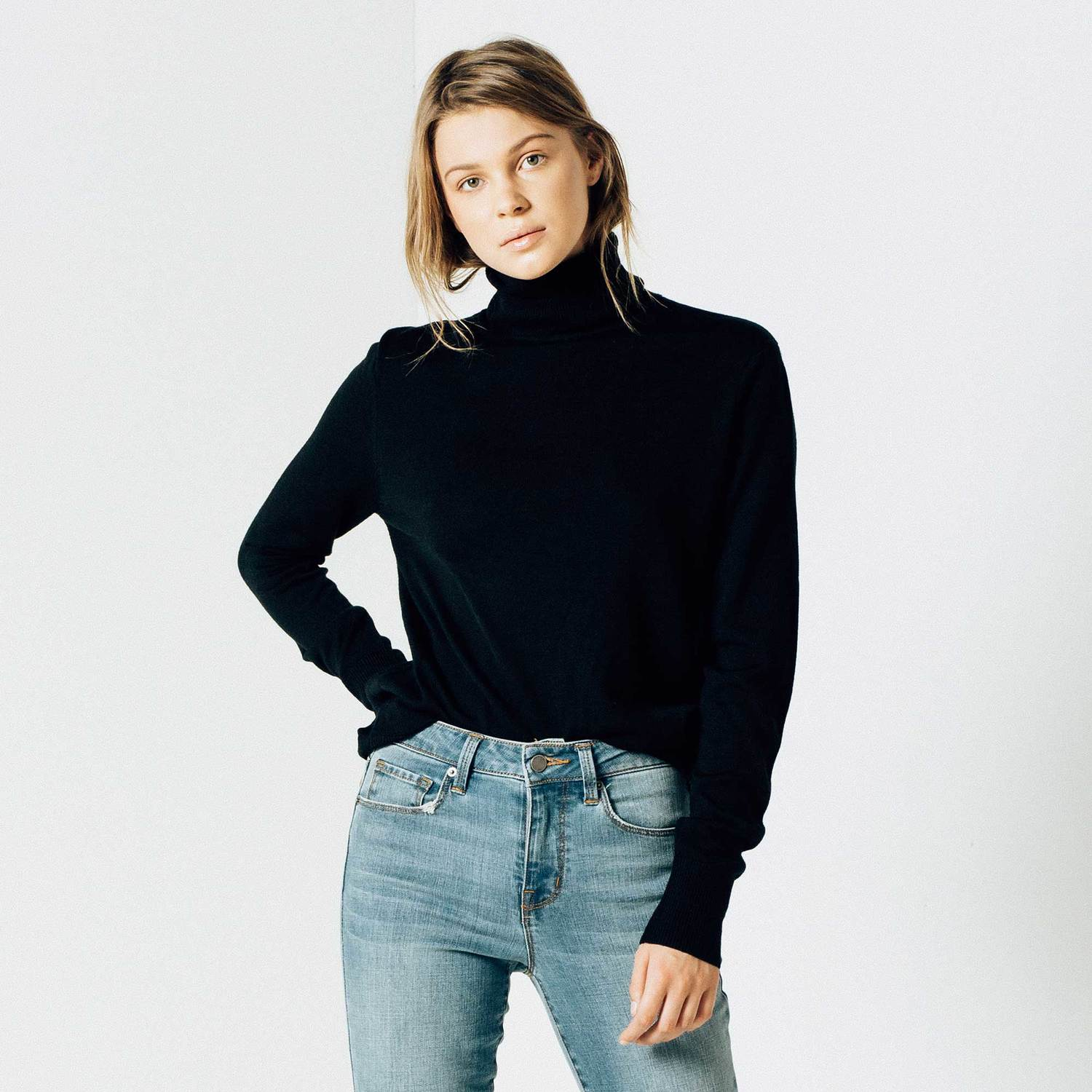 Turtleneck Sweater for Women in exclusive materials and designs