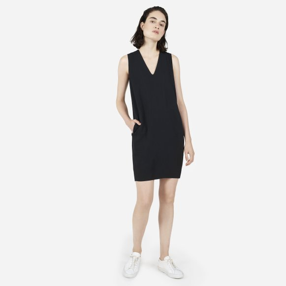 The Japanese GoWeave Sleeveless V-Neck Dress - Everlane