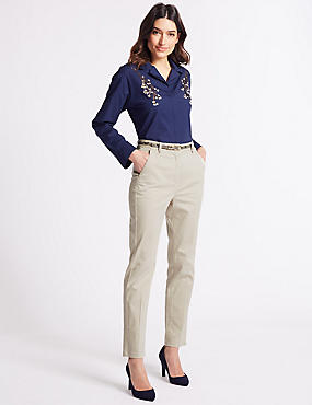 Cotton Rich Slim Leg Chinos