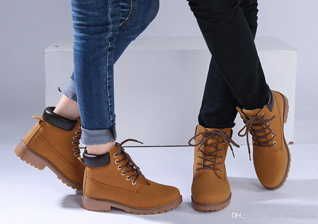 2016 Women Men Fashion Martin Boots Snow Boots Outdoor Casual Cheap Timber  Boots Autumn Winter Lover Shoes Menu0027s Boots Womenu0027s Boots Fashion Ankle  Boots ...