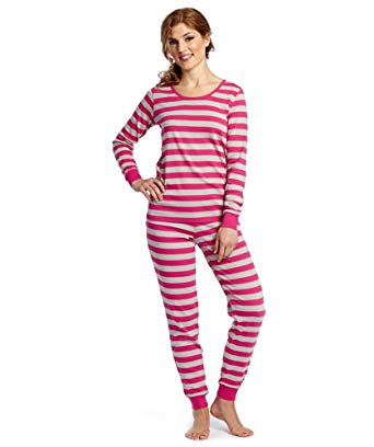 Leveret Womens Fitted Striped 2 Piece Pajama Set 100% Cotton (X-Small,