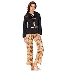 Jeffrey Banks Hoodie u0026 Pants 2-piece Holiday Pajama Set