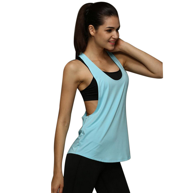 6 Colors Summer Sexy Women Tank Tops Quick Dry Loose Fitness Sleeveless  Vest Singlet For T