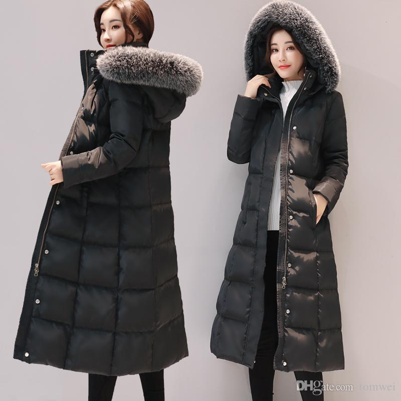 Long Down Jacket Women Winter Coats Natural Fox Fur Collar White Duck Down  Parkas Hooded Thicken Warm Snow Clothes New Arrival Real Fur Jacket Women  Winter ...