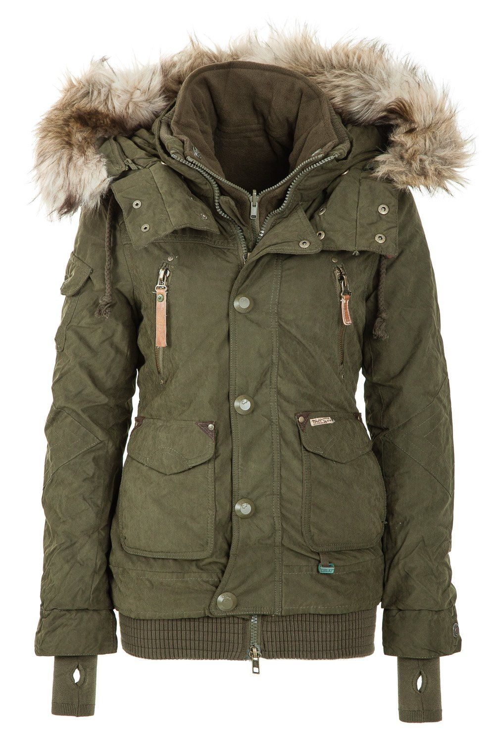 Khujo Women\u0027s Winter Jacket Margret Olive 320 http://www.