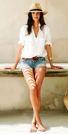 simple summer outfit - I want this shirt... find more women fashion ideas