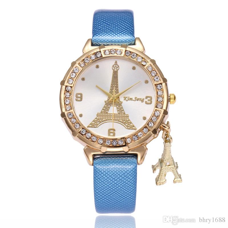 Fashion Creative Tower Pendant Women'S Watches Kimseng Luxury Brand Crystal  Diamond Quartz Watch Female Ladies Dress Casual Wrist Watches Online  Shopping ...