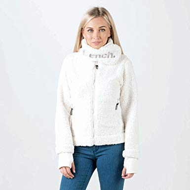 Bench Womens Womens Investigator Fleece Jacket in White - 16