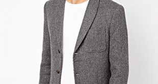 Selected Blazer With Shawl Collar