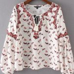 A blouse with floral pattern versatile combine