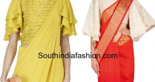 bell sleeves blouse for sarees 2 photo