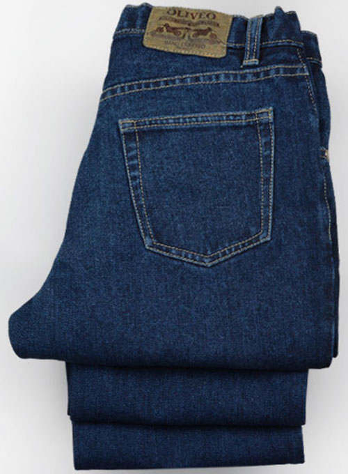 Dark Blue 14.5oz Heavy Denim Jeans Custom Made Jeans [303 Dark Dx