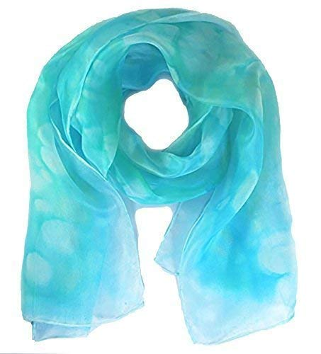 Silk scarf women, blue scarves, Turquoise plus more colours available in my  shop,