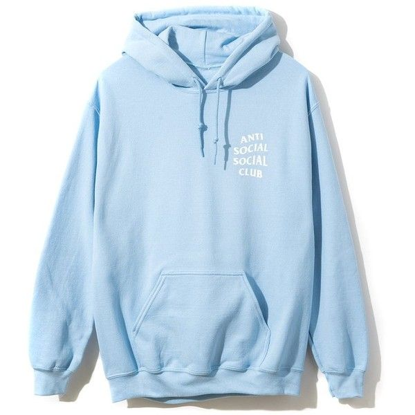 Sky Is Falling Hoodie (26 KWD) ❤ liked on Polyvore featuring tops, hoodies,  shirts, sweatshirts, light blue hoodie, blue hoodies, light blue top,