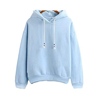 2017 Harajuku Pastel Baby Blue Candy Color Hoodies Sweatshirts