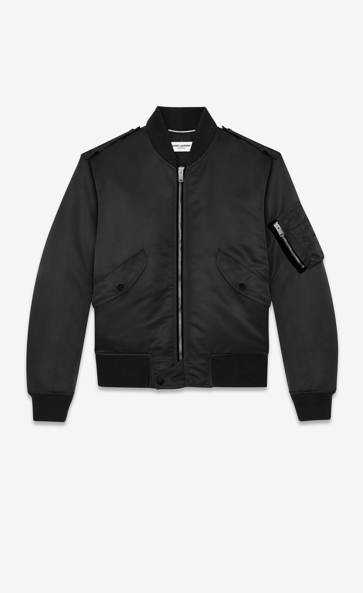 bomber jacket in nylon, Front view
