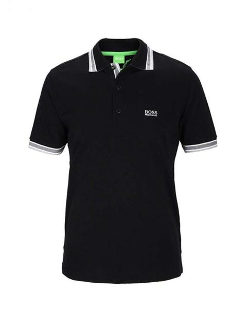 HUGO BOSS POLO Black True To Size BOSS PADDY POLO SHIRT Regular Fit NEW