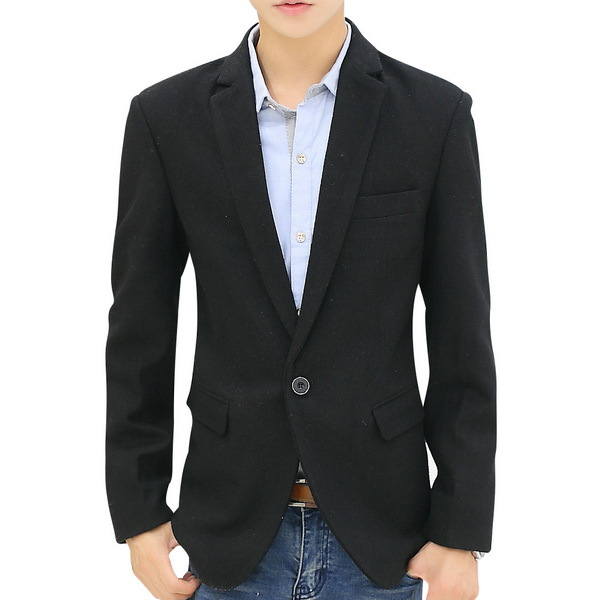 Get Quotations · 2015 New Suit Jackets Men Fashion Woolen Blazers Size  M-3XL Men Slim Casual Blazers