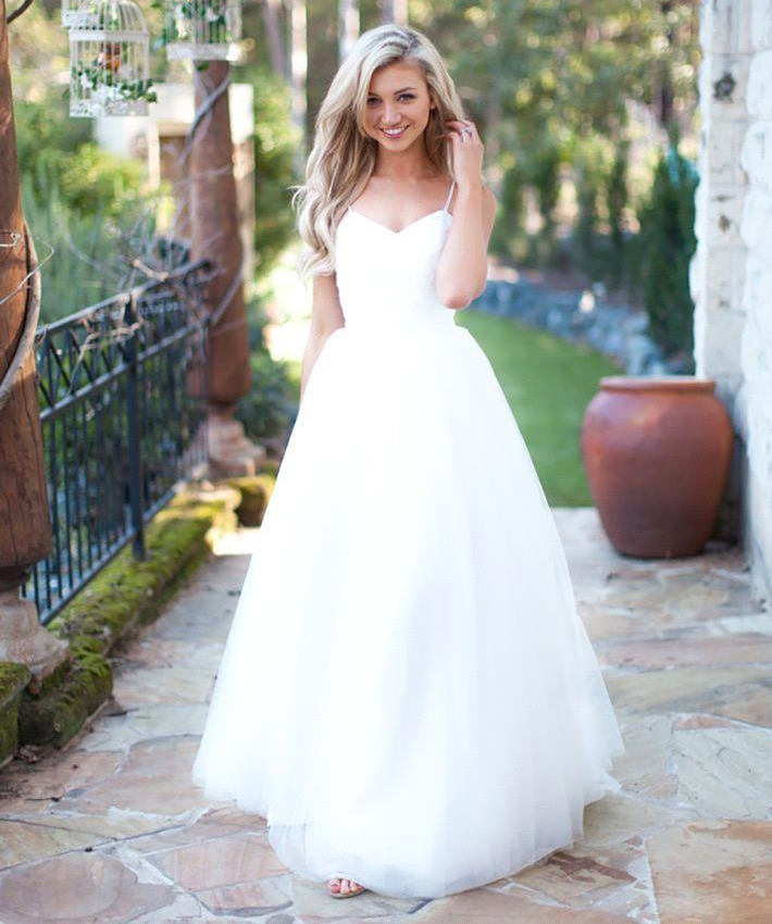 White Wedding Dresses,Simple Wedding Dress,Cheap Wedding Dress,Beach Wedding  Dress,