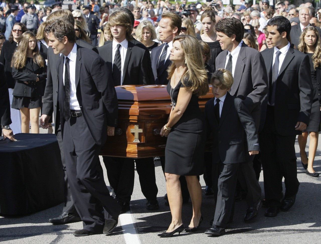 Dark suits are obligatory for funerals