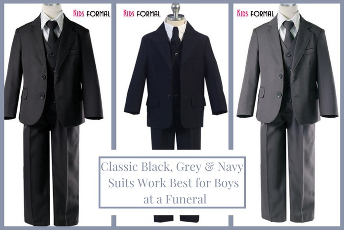 Funeral Attire for Kids: Suits for Boys