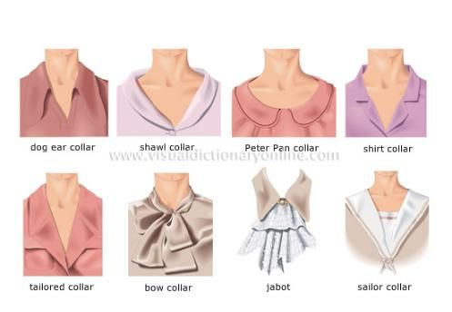 Collar dresses for leisure and business