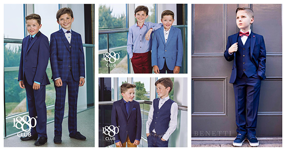 Some of 1880 Club Suits and Shirts for Communion and Confirmation available  in Louis Boyd Menswear at Park Centre