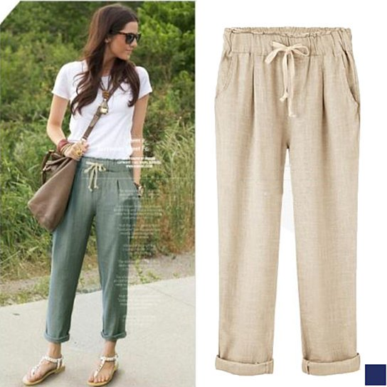 Buy Elastic Waist Breathable Cotton Pants in 3 Colors by Amaryllis on  OpenSky