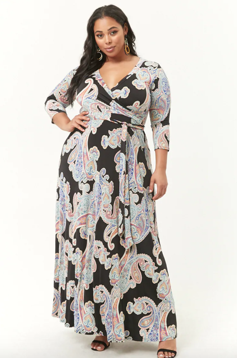 ##Forever 21 Plus Size Paisley Print Maxi Dress SHOP NOW: [Forever 21
