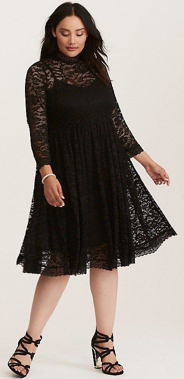42 Plus Size Party Dresses {with Sleeves} - Plus Size Cocktail Holiday  Party Dresses - Plus Size Fashion for Women - Traveller Location #alexawebb  #plussize #