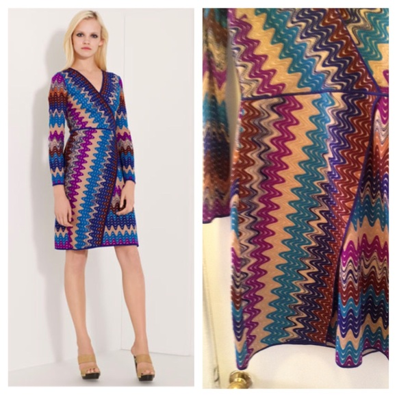 Missoni stitch faux wrap dress size Us 8/ IT 44.