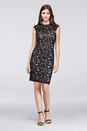 Short Sheath Cap Sleeves Cocktail and Party Dress - Memoir