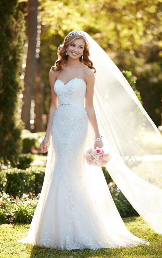 6341 Strapless Wedding Dress with Sweetheart Neckline by Stella York