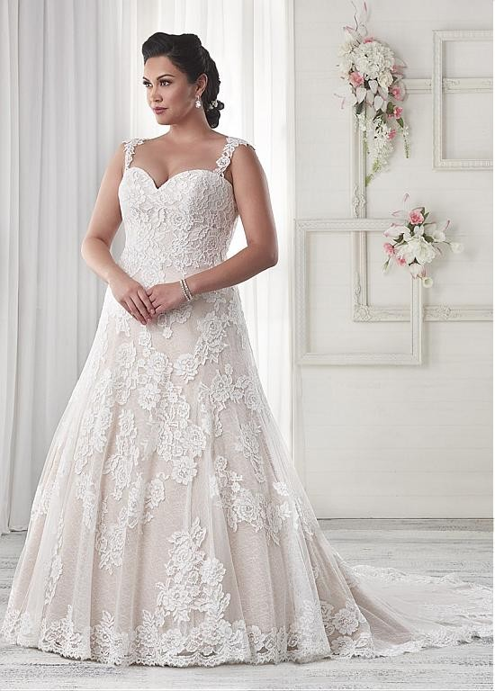 A-line Tulle Sweetheart Neckline Plus Size Wedding Dresses with Sequins  Lace Appliques