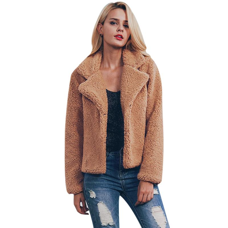 2019 Plus Size Faux Fur Jacket Coat Women Winter Warm Lady Shaggy Jackets  Long Sleeve Shaggy Turn Down Collar Outerwear 2017 Overcoat From  Yzlwatchfine,