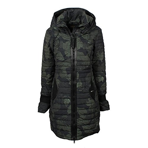 Khujo Women's Hooded Coat Olive S: Clothing - B0732PG1SX