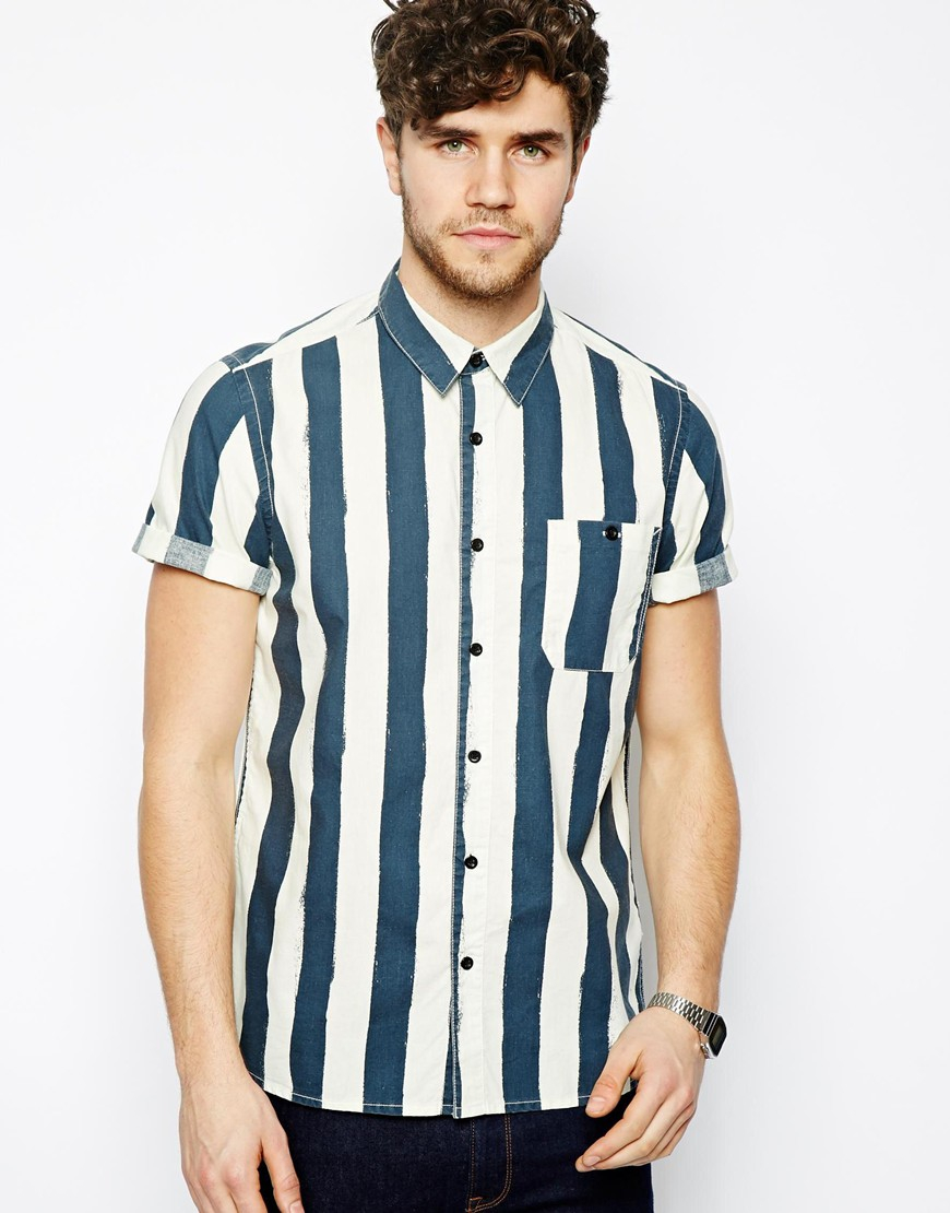 Shirts with block stripes